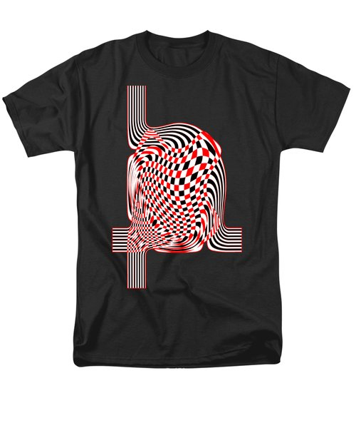 Men's T-Shirt  (Regular Fit) featuring the digital art Opart Abstract by Methune Hively