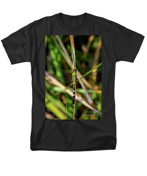 Men's T-Shirt  (Regular Fit) featuring the photograph Openminded Green Dragonfly Art by Reid Callaway
