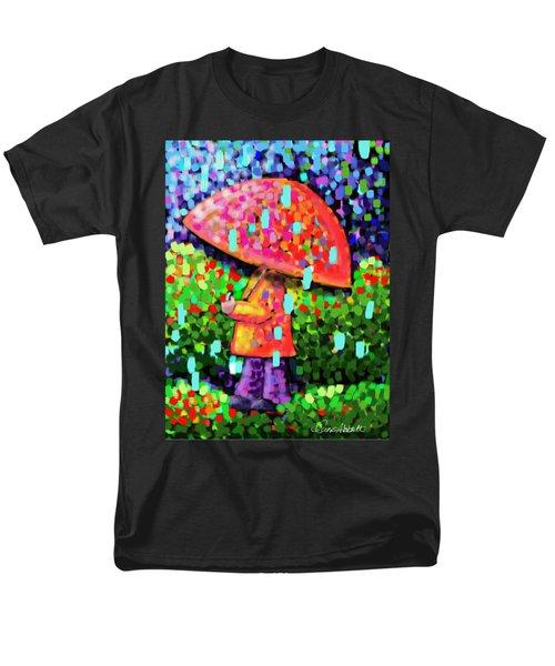 Rainy Day Stroll Men's T-Shirt  (Regular Fit) by Dani Abbott