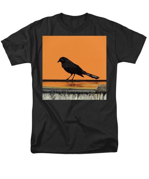 Orange And Black Bird Men's T-Shirt  (Regular Fit)