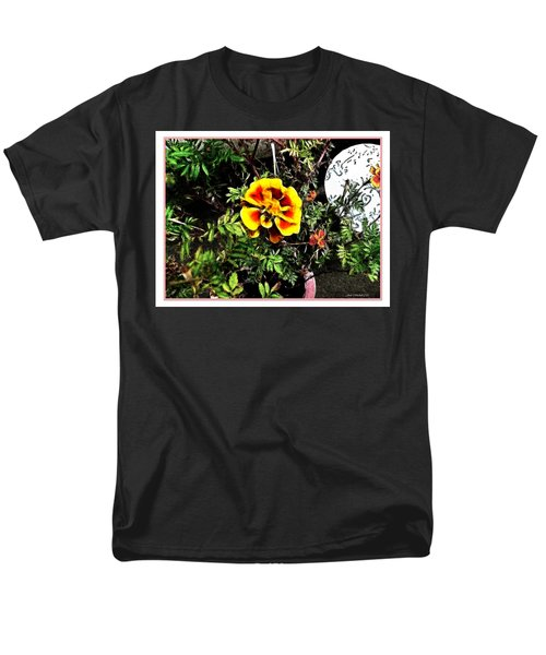 Men's T-Shirt  (Regular Fit) featuring the photograph Orange And Yellow Flower by Joan  Minchak