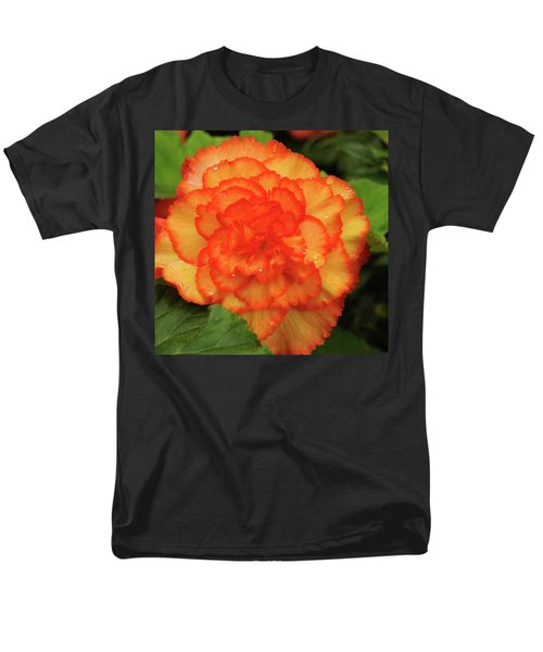 Orange Begonia Men's T-Shirt  (Regular Fit) by Haleh Mahbod