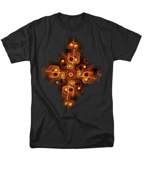 Orange Cross Men's T-Shirt  (Regular Fit) by Anastasiya Malakhova