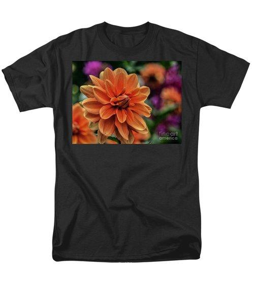Orange Dahlias Men's T-Shirt  (Regular Fit)