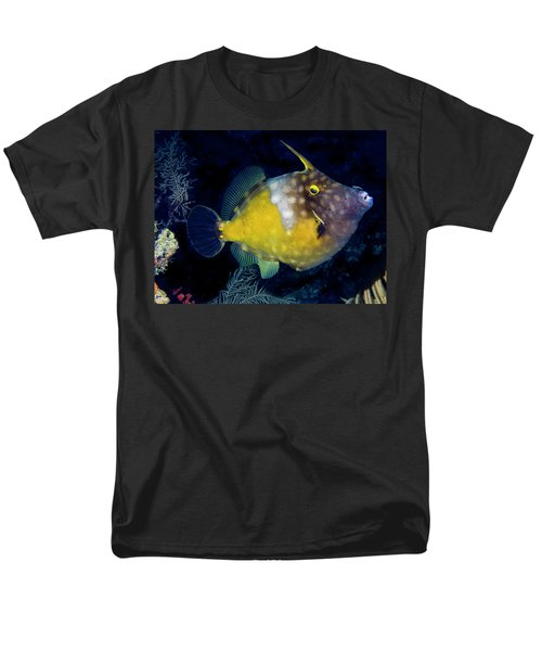Men's T-Shirt  (Regular Fit) featuring the photograph Orange Filefish by Jean Noren