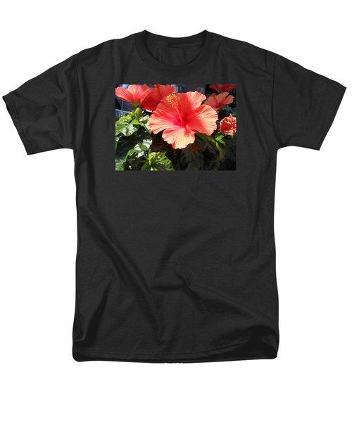 Orange Hibiscus Men's T-Shirt  (Regular Fit) by Kay Gilley