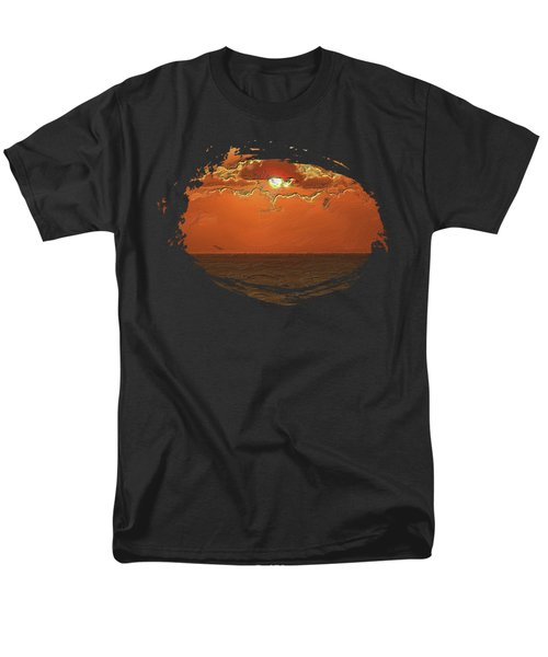 Orange Sky Men's T-Shirt  (Regular Fit) by Thom Zehrfeld