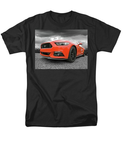 Men's T-Shirt  (Regular Fit) featuring the photograph Orange Storm - Mustang Gt by Gill Billington