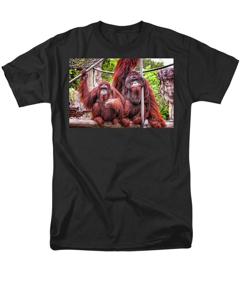 Orangutan Couple Men's T-Shirt  (Regular Fit) by Stephanie Hayes