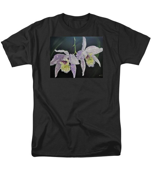 Men's T-Shirt  (Regular Fit) featuring the painting Orchid Jewels by AnnaJo Vahle
