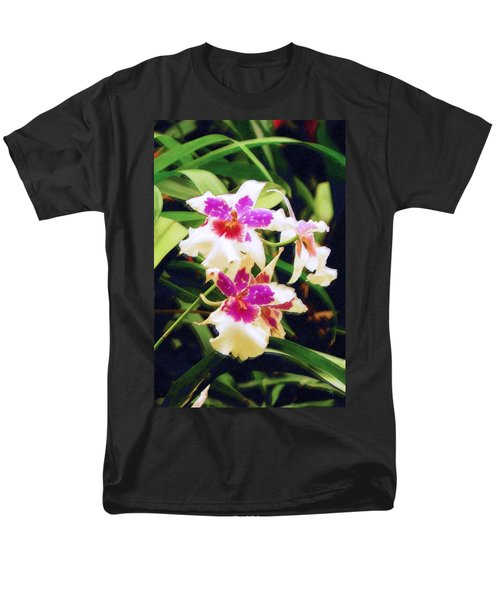 Men's T-Shirt  (Regular Fit) featuring the painting Orchids 1 by Sandy MacGowan