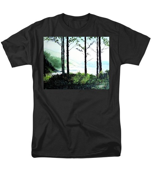 Men's T-Shirt  (Regular Fit) featuring the painting Oregon Coast by Tom Riggs