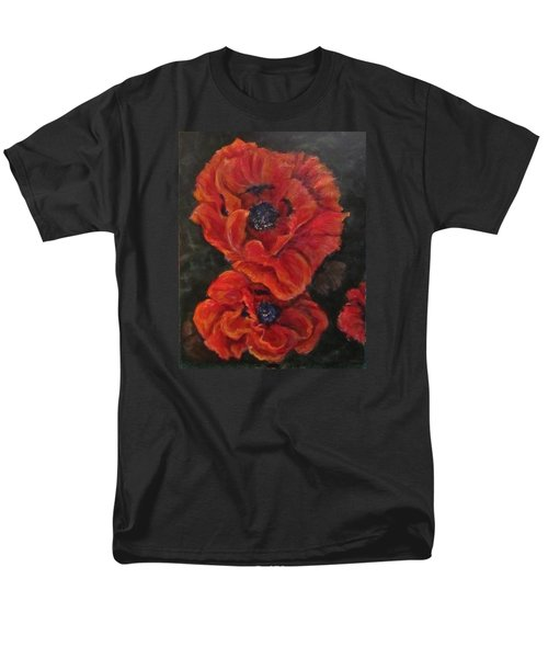 Oriental Poppys  Men's T-Shirt  (Regular Fit) by Barbara O'Toole