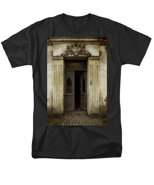 Ornamented Gate In Dark Brown Color Men's T-Shirt  (Regular Fit) by Jaroslaw Blaminsky