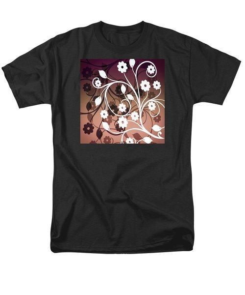 Men's T-Shirt  (Regular Fit) featuring the digital art Ornametal 2 Purple by Angelina Vick