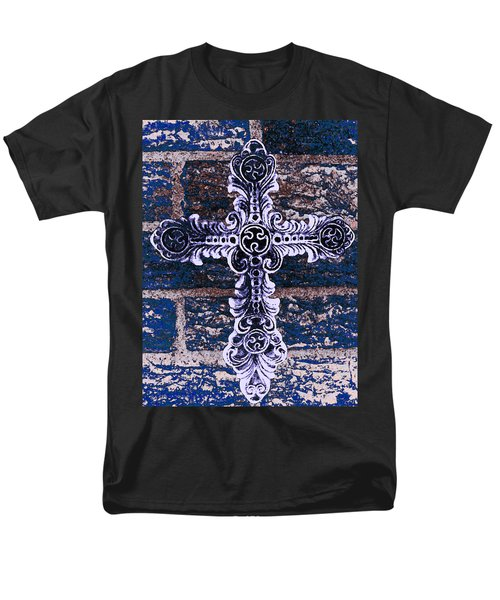 Ornate Cross 2 Men's T-Shirt  (Regular Fit) by Angelina Vick