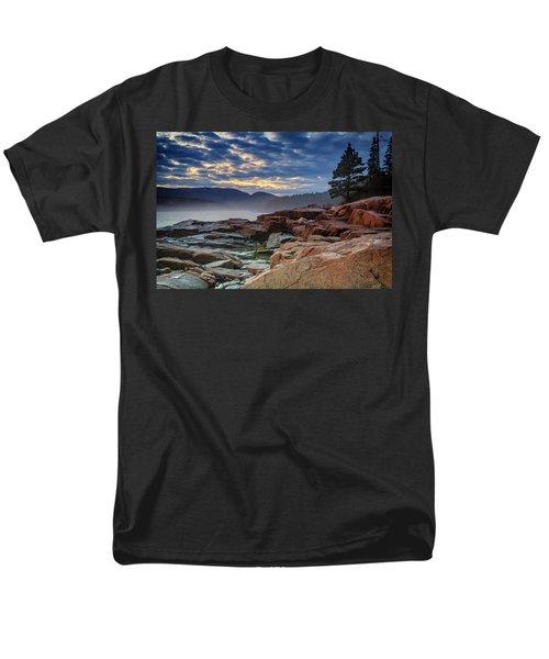 Otter Cove In The Mist Men's T-Shirt  (Regular Fit) by Rick Berk