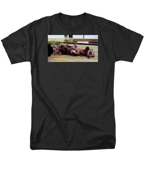 Otter Party Men's T-Shirt  (Regular Fit) by Karen Molenaar Terrell