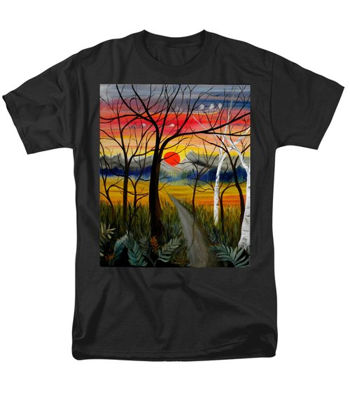 Men's T-Shirt  (Regular Fit) featuring the painting Out Of The Woods by Renate Nadi Wesley