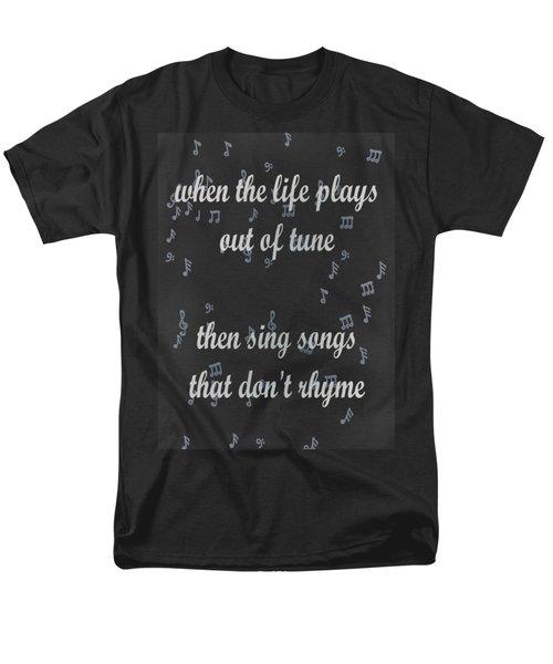 Out Of Tune Black Men's T-Shirt  (Regular Fit) by Keshava Shukla