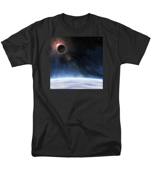 Men's T-Shirt  (Regular Fit) featuring the digital art Outer Atmosphere Of Planet Earth by Phil Perkins