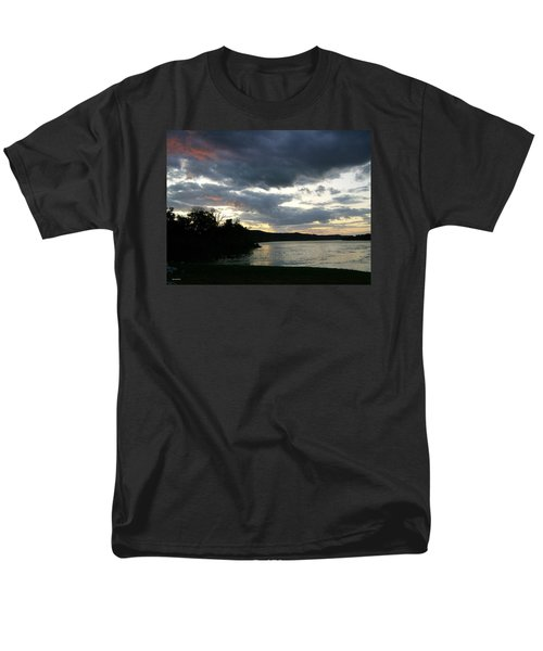 Men's T-Shirt  (Regular Fit) featuring the photograph Overcast Morning Along The River by Skyler Tipton