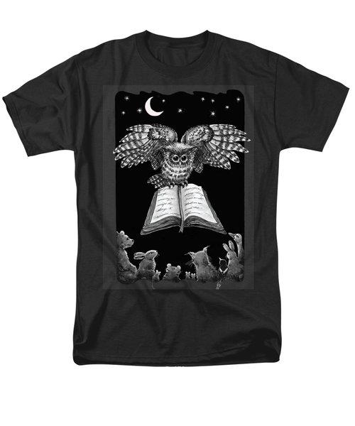 Owl And Friends Blackwhite Men's T-Shirt  (Regular Fit) by Retta Stephenson