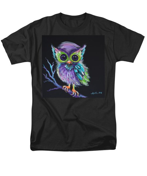 Men's T-Shirt  (Regular Fit) featuring the painting Owl Be Your Friend by Agata Lindquist