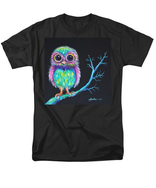 Men's T-Shirt  (Regular Fit) featuring the painting Owl Be Your Girlfriend by Agata Lindquist