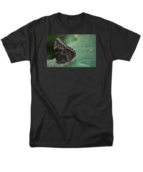 Owl Butterfly Men's T-Shirt  (Regular Fit) by Linda Geiger
