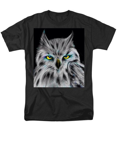 Men's T-Shirt  (Regular Fit) featuring the drawing Owl Eyes  by Nick Gustafson