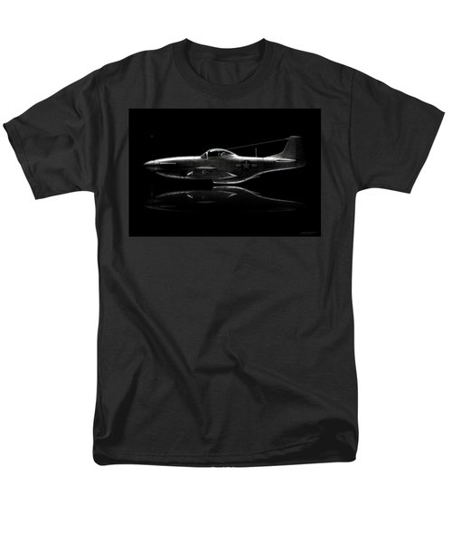 P-51 Mustang Profile Men's T-Shirt  (Regular Fit) by David Collins