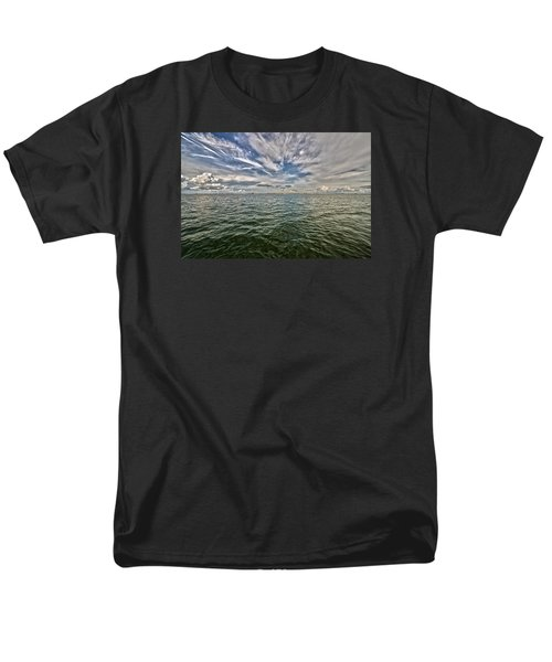 Paint Brush Sky - Ft Myers Beach Men's T-Shirt  (Regular Fit) by Christopher L Thomley