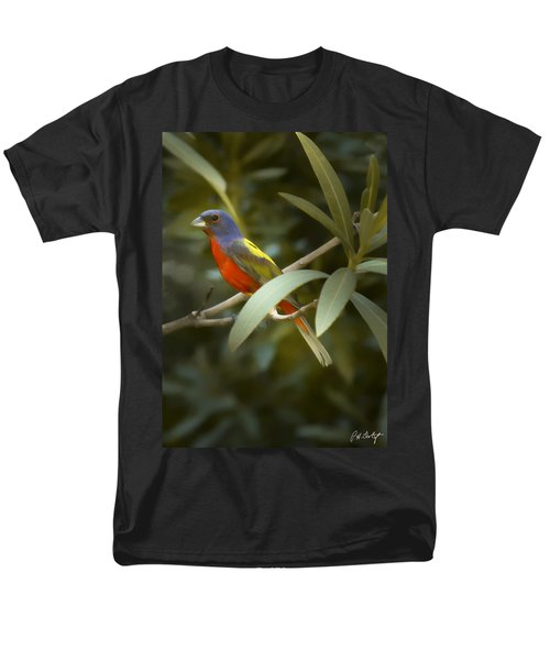 Painted Bunting Male Men's T-Shirt  (Regular Fit) by Phill Doherty
