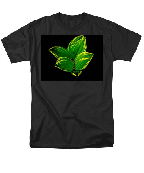 Painter Leaf Pattern Men's T-Shirt  (Regular Fit) by Bruce Pritchett