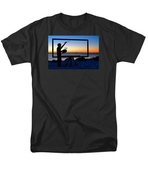 Painting The Perfect Sunrise Men's T-Shirt  (Regular Fit) by James Kirkikis