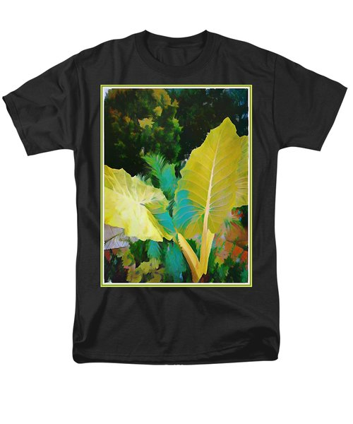 Men's T-Shirt  (Regular Fit) featuring the painting Palm Branches by Mindy Newman