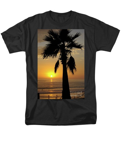 Palm Tree Sunset Men's T-Shirt  (Regular Fit) by Jim And Emily Bush