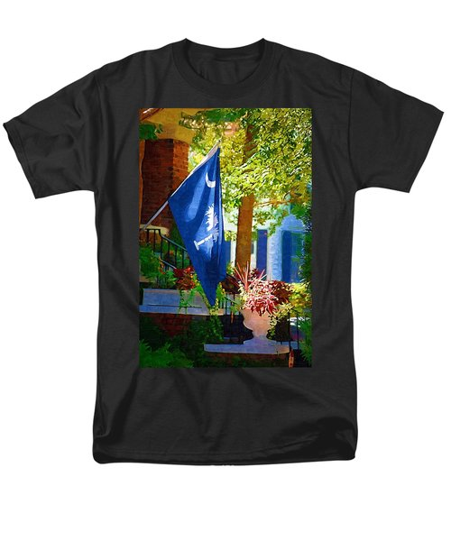 Palmetto Flag Men's T-Shirt  (Regular Fit) by Donna Bentley