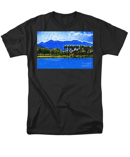 Palms And Mountains Men's T-Shirt  (Regular Fit) by Kirt Tisdale