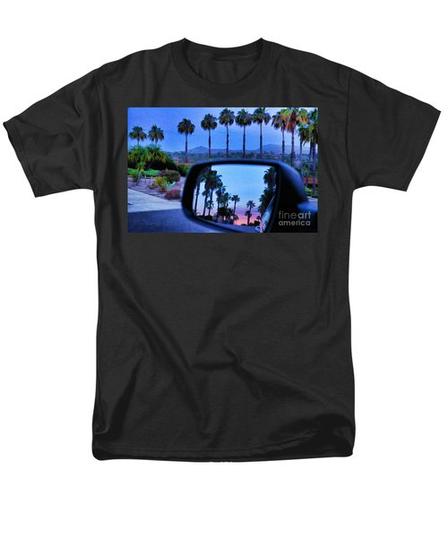 Palms Sunset Reflection Men's T-Shirt  (Regular Fit) by Sharon Soberon