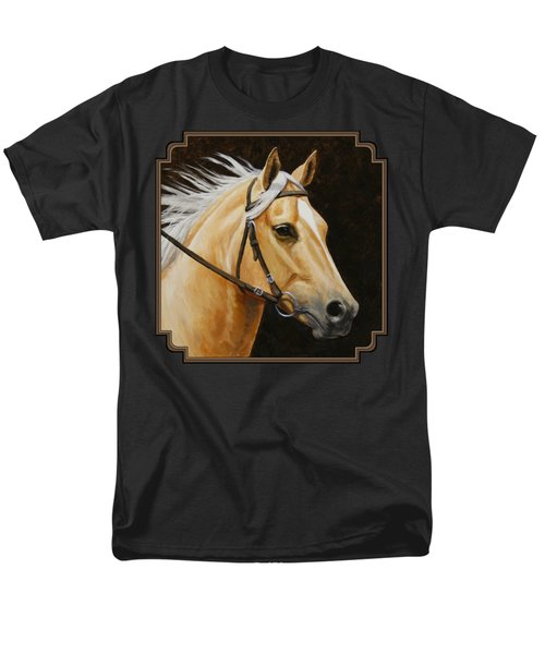 Palomino Horse Portrait Men's T-Shirt  (Regular Fit) by Crista Forest