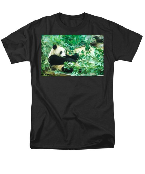 Men's T-Shirt  (Regular Fit) featuring the painting Panda 1 by Lanjee Chee