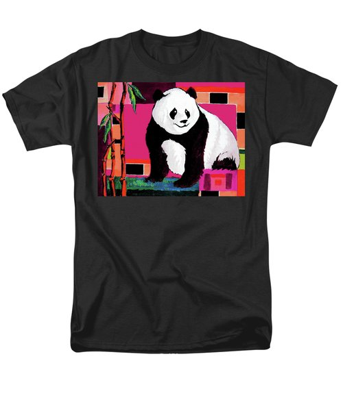 Panda Abstrack Color Vision  Men's T-Shirt  (Regular Fit) by Alban Dizdari