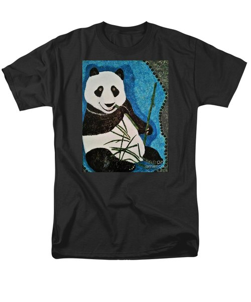 Men's T-Shirt  (Regular Fit) featuring the painting Panda by Jasna Gopic