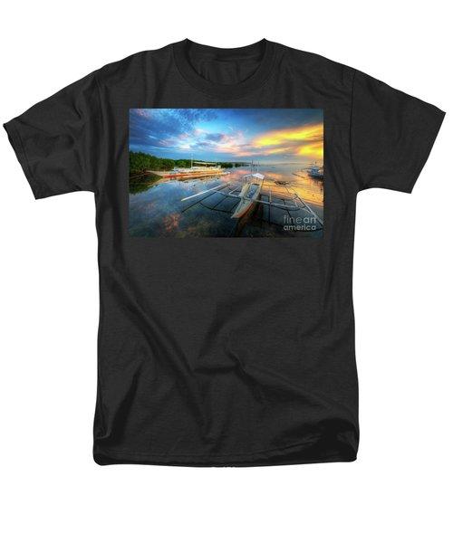 Men's T-Shirt  (Regular Fit) featuring the photograph Panglao Port Sunset 9.0 by Yhun Suarez
