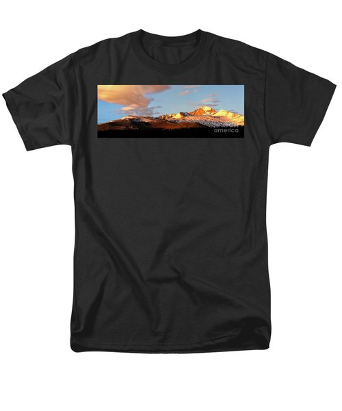 Panorama View Of Longs Peak At Sunrise Men's T-Shirt  (Regular Fit) by Ronda Kimbrow
