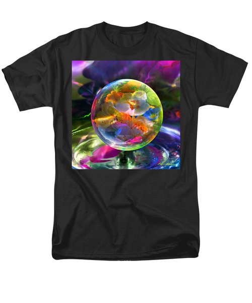 Pansy Drop Men's T-Shirt  (Regular Fit) by Robin Moline