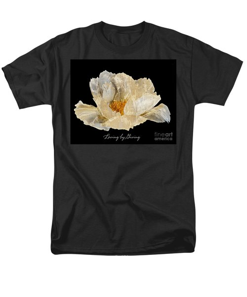 Men's T-Shirt  (Regular Fit) featuring the photograph Paper Peony Loving By Giving by Diane E Berry