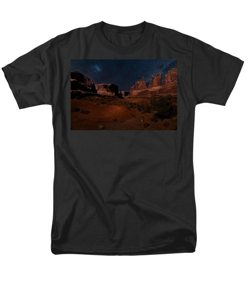 Park Avenue Trailhead Men's T-Shirt  (Regular Fit) by James Bethanis